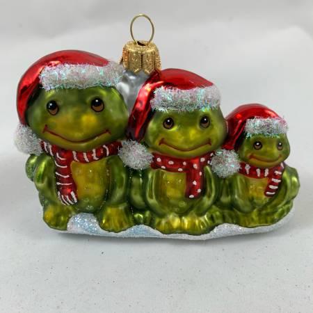 Frosch ● 3er Set ● Grün ● 11 x 7,5 cm