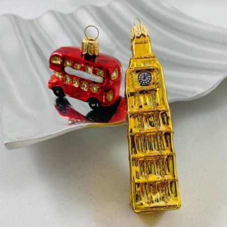 Big Ben und London Bus ● gold / rot ● 2er Set